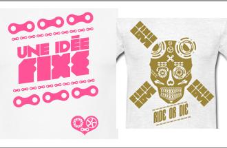Venez découvrir les nouveaux tee-shirt de la boutique d'accessoires Fixie Love