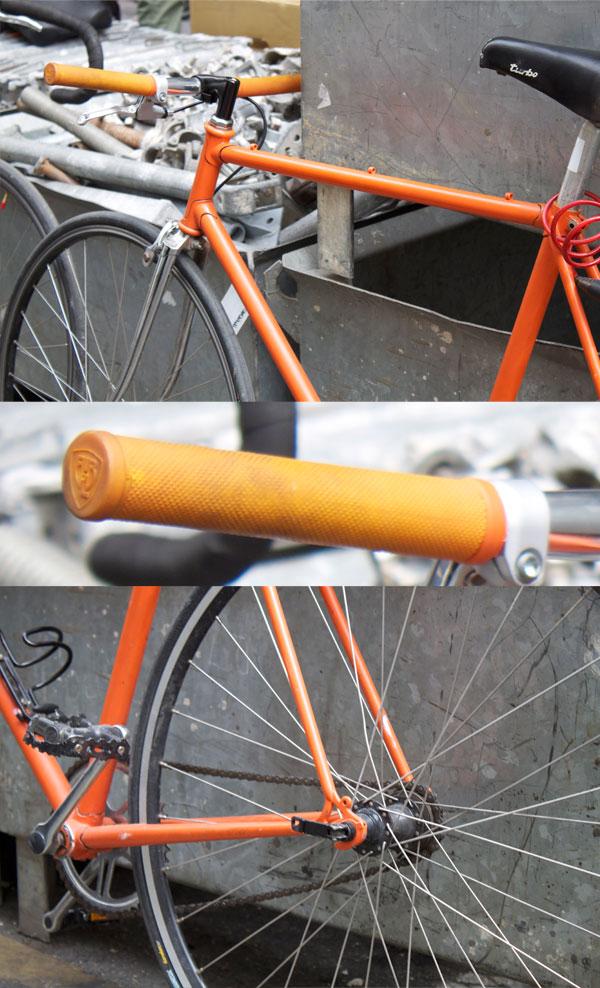 cadre orange poignés blb fixie