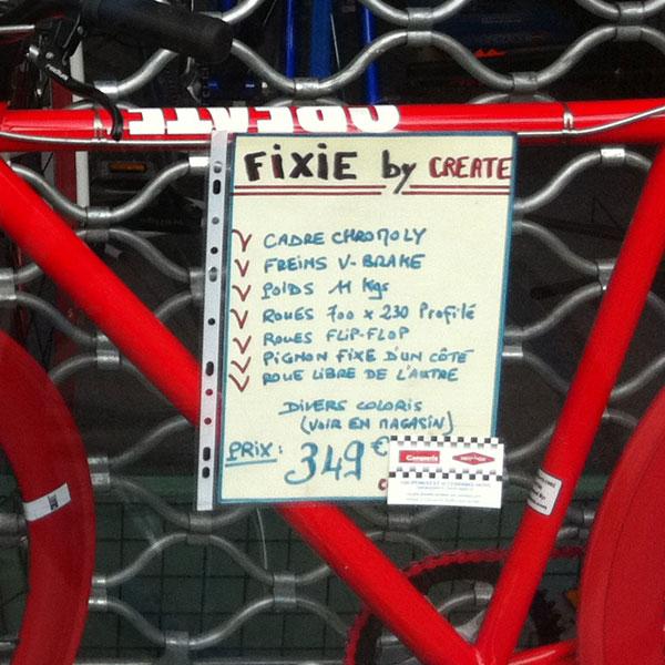 fixie create 350 euros