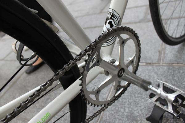 pedalier fixie blanc